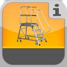 1.3.8.0.0 - Fahrbahre Arbeitspodeste mit Stufenaufgang Podestleiter
