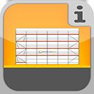 1.1.1.3.1 - Vollständige Fassadengerüste aus Rux Framescaff Systemteilen mit allem Zubehör, ohne Verankerung Gerüstpakete Rux Framescaff