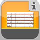 1.1.1.6.1 - Vollständige Fassadengerüste bei denen wesentliche oder alle Bestandteile aus Aluminium bestehen, mit allem Zubehör, ohne Verankerung Gerüstpakete Aluminium