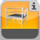 1.2.5.0.0 - Rollgerüste mit großer quadratischer Plattform z.B. für den Trockenbau Rollbock