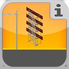 1.5.2.1.1 - Vollständiges Paket zur Errichtung eines Turms aus Rux Super Teilen mit metrischem Maß vor einem Gerüst Treppenturm Rux Super