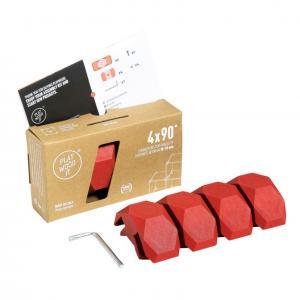 Playwood Kunststoffverbinder 90° ROT, 4er Pack