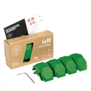 Playwood Kunststoffverbinder 90° HELLGRÜN, 4er Pack