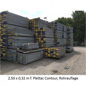 Ringscaff Stahlbelag 0,32 m x 2,50 m f. Plettac Contour (Rohrauflage)