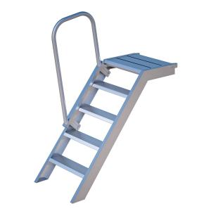 Alu Podest-Treppe Rux Super 1 m, mit Aufstiegshilfe einseitig