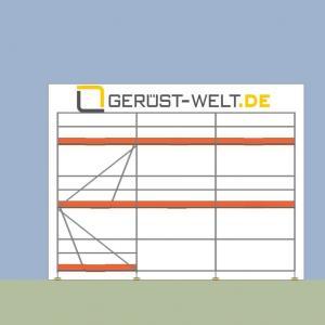Fassadengerüst Paket Rux Super 65 ALU, 37,5 m², Feldl. 2,5 m