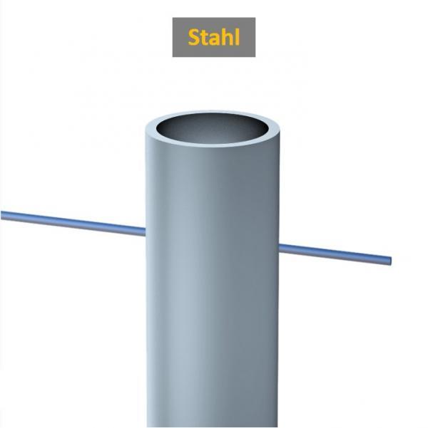 """Gerüstrohr Stahl Ø 1 ½ """" bzw. 48,3 mm;"""