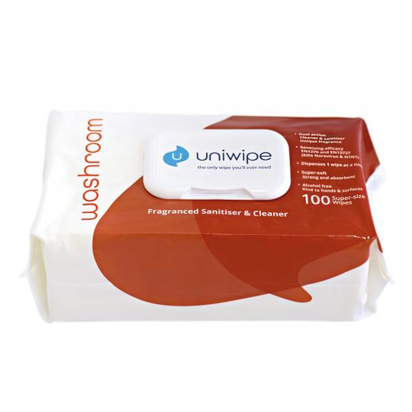 Uniwipe Washroom 100 Reinigungstücher für Sanitäranlagen und Sozialräume