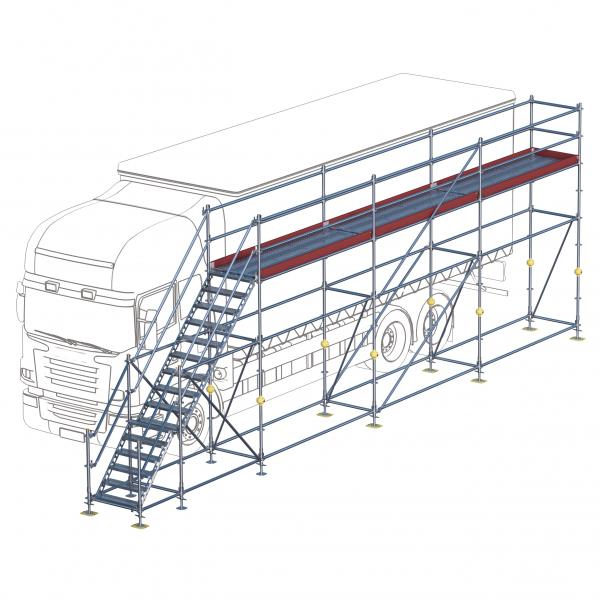 Eisfrei-Gerüst mit Treppe, 9 m