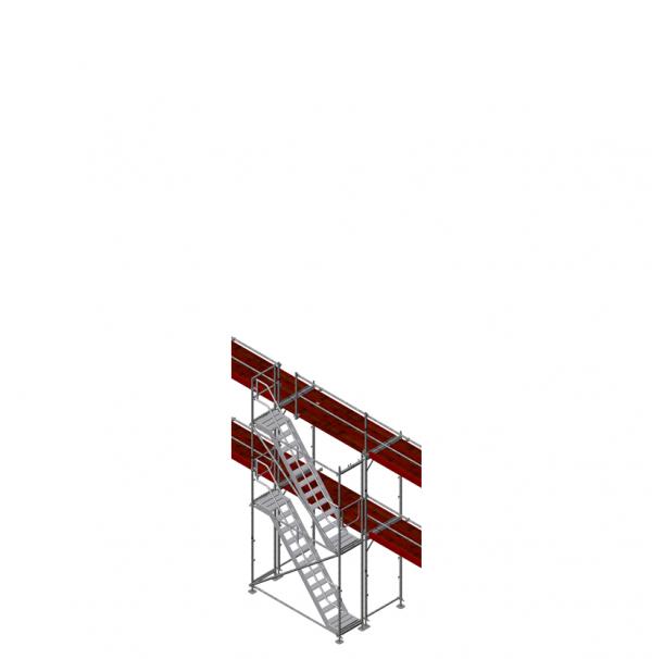 Gerüsttreppe f. FL 2,5 m, max. Ausstiegshöhe 4 m