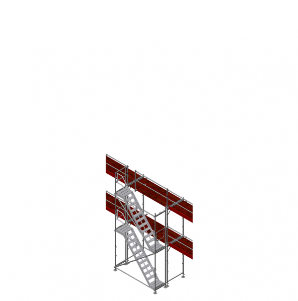 Gerüsttreppe universal, max. Ausstiegshöhe 4 m