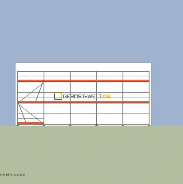 Fassadengerüst Paket Rux Super 65, 62,5 m², Feldl. 2,5 m