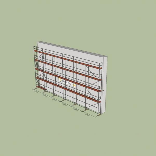 Fassadengerüst Paket Rux Super 65 ALU, 162 m², Feldl. 3,0 m