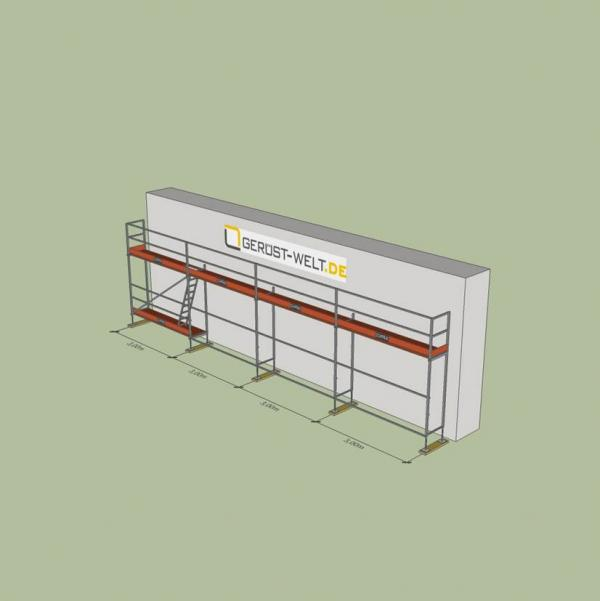 Fassadengerüst Paket Rux Super 65 ALU, 36 m², Feldl. 3,0 m