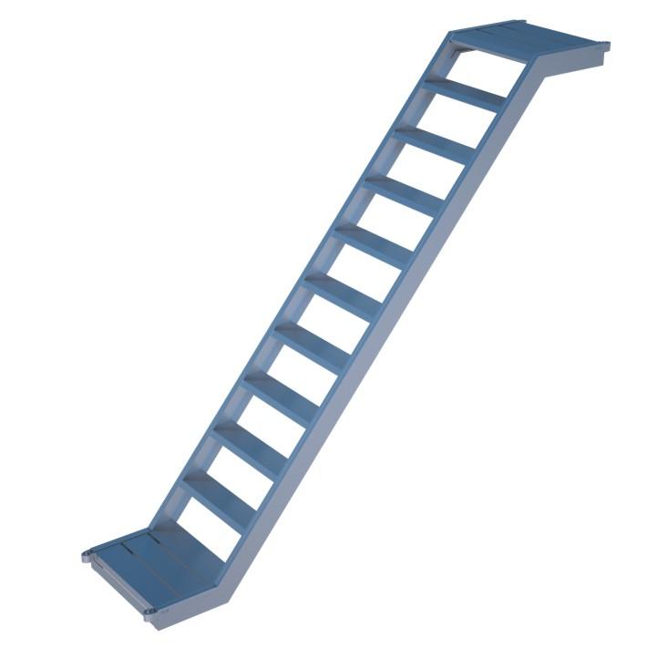 Extrem Alu-Treppe mit Podest Rux Super 0,65 m | Gerüste online kaufen FT93