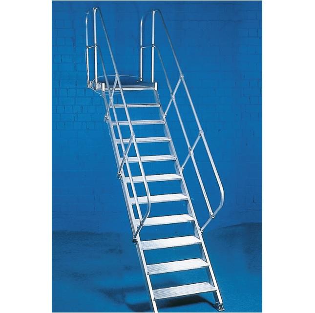weise podesttreppe mit einem handlauf ger ste online kaufen ger st welt de. Black Bedroom Furniture Sets. Home Design Ideas