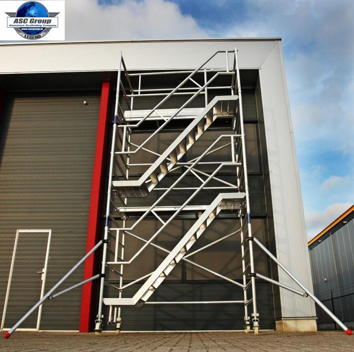 asc fahrbarer treppenturm ah 8 2 m ger ste online kaufen ger st welt de. Black Bedroom Furniture Sets. Home Design Ideas