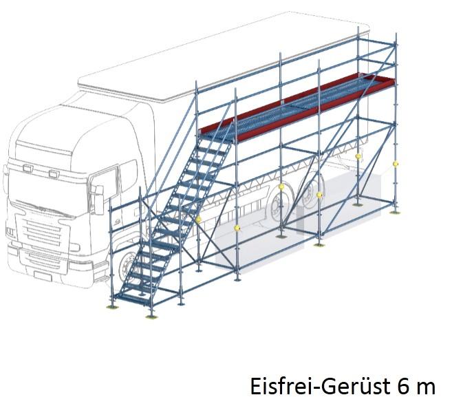 eisfrei ger st mit treppe 6 m ger ste online kaufen ger st welt de. Black Bedroom Furniture Sets. Home Design Ideas