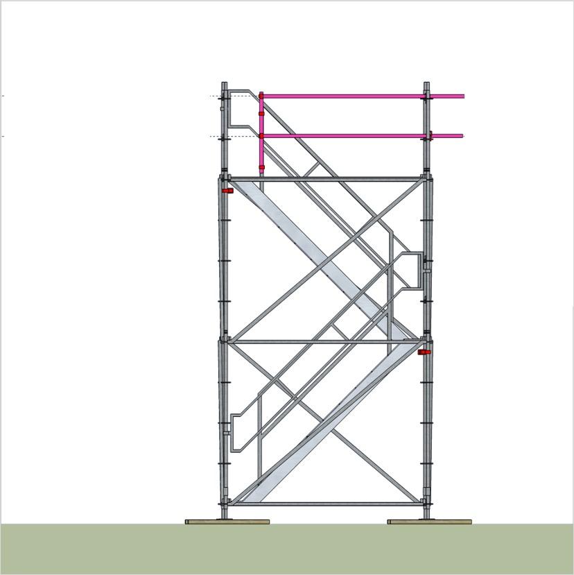 bautreppenturm mit alu podesttreppe ausstiegsh he 4 2 m. Black Bedroom Furniture Sets. Home Design Ideas