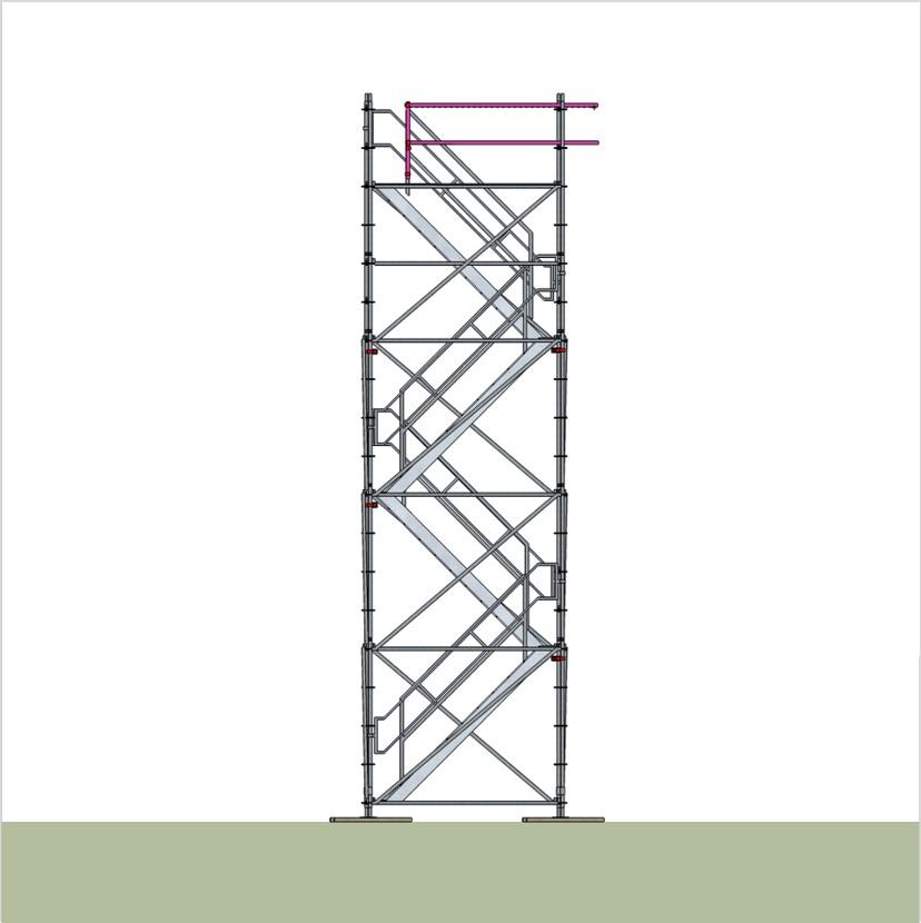 bautreppenturm mit alu podesttreppe ausstiegsh he 8 2 m. Black Bedroom Furniture Sets. Home Design Ideas
