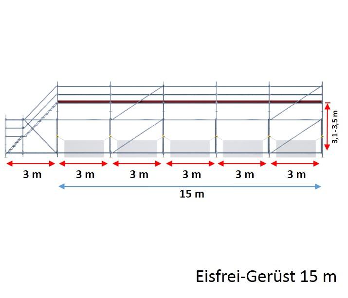 Gut gemocht Eisfrei-Gerüst mit Treppe, 15 m | Gerüste online kaufen | GERÜST OO24