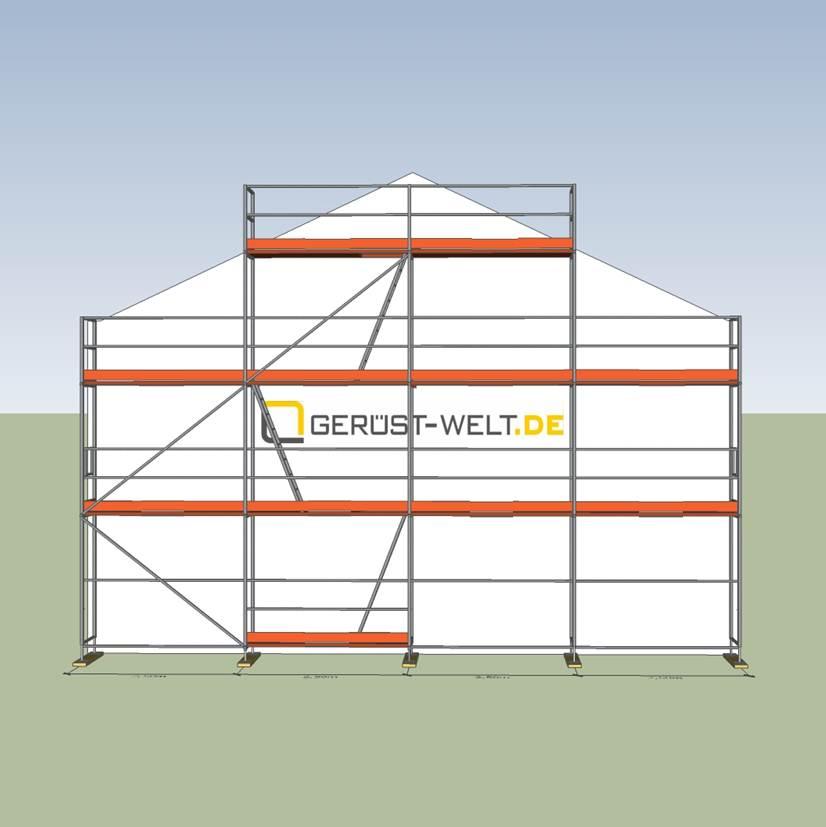 Hervorragend Fassadengerüst Paket Rux Super 65, 60 m², Feldl. 2,5 m | Gerüste LN46