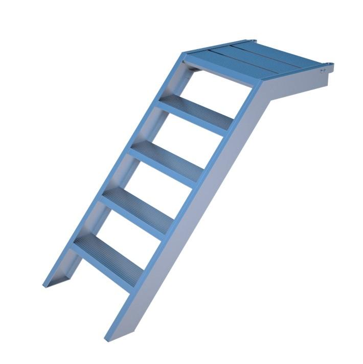alu podest treppe rux super 1 m mit aufstiegshilfe einseitig ger ste online kaufen ger st. Black Bedroom Furniture Sets. Home Design Ideas